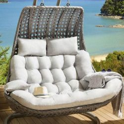 Cushion Set for DOUBLE seater Banana Hanging Chair SILVER