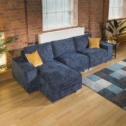 Luxury Large Modern Soft 3 Seater & Chaise Many Colours & Fabrics 1L