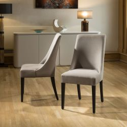 Premium Quality Extra Comfy Wide Made to Order Dining Chairs x2 Velvet
