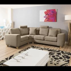 Modern Large L shaped Sofa/Corner Group 2.8 x 2.1 mtr Grey Today 7R
