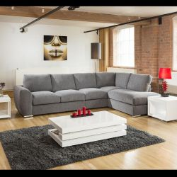 Large L Shaped Corner Sofa 335x210cm Grey Pre Christmas Delivery