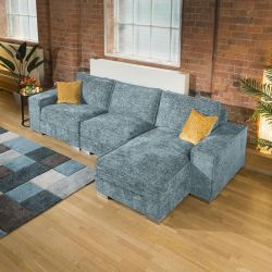 Luxury Large Modern Comfy 3 Seater & Chaise Many Colours & Fabrics 1R
