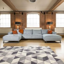 Effie Super Wide Stylish Sofa with 2 x 1.9m deep chaise lounges 3.8mt