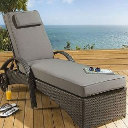 Full cushion cover for LS40001B Lounger - Grey fabric - 2018