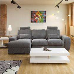 Qiuatropi Large Modern 3 Seater Sofa Couch with Chaise L Shape 38LH