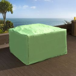 Green Rain Cover for Garden Cube / Square Dining Set W134xD134xH73cm