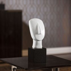 Abstract White Face Statue Ornament Christmas Birthday Gift Small 020