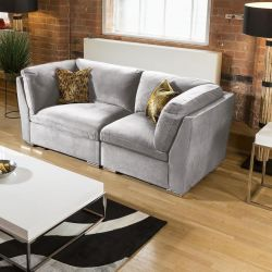 ExDisplay Super Comfy Mikey Sofa Light Grey 2 Seater Settee
