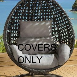 Cushion Cover Set for SINGLE seater SD06 Hanging Chair GREY