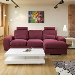 Qiuatropi Large Modern 3 Seater Sofa Couch with Chaise L Shape 38RH